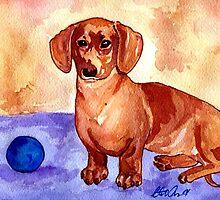 Dachshund Dog Portrait   by Oldetimemercan