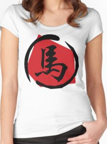 Chinese Zodiac Sign of The Horse Women's Fitted Scoop T-Shirt