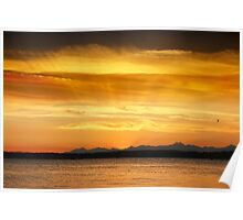 Discovery Park Sunset, 10/04/2012 - Seattle, WA Poster