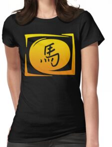 Sign Chinese Zodiac Year of The Horse Womens Fitted T-Shirt
