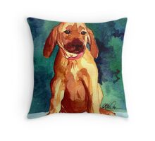 Rhodesian Ridgeback Dog Portrait Throw Pillow