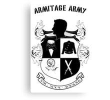 Armitage Army CoA -txt- Canvas Print