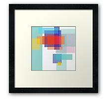 Pixel entropy Framed Print