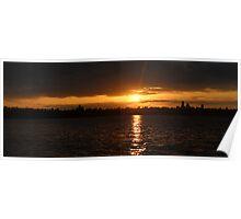 Sunset @ Seward Park, 07/10/2013 - Seattle, WA Poster