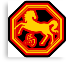 Chinese Zodiac Horse - Year of The Horse Canvas Print