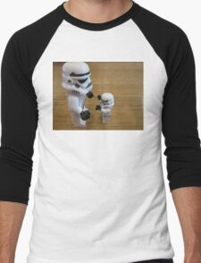 Dave Stormtrooper  Fathers Day Hug Men's Baseball ¾ T-Shirt