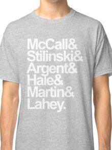 Teen Wolf Main 6 (White Text) Classic T-Shirt