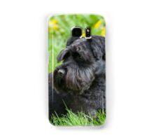Black Miniature Schnauzer Dog Samsung Galaxy Case/Skin
