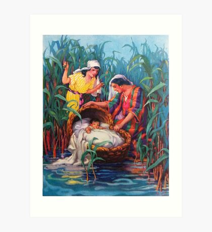 Moses in the Bulrushes Art Print
