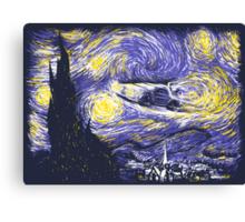 Starry Delorean Canvas Print