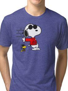 joe cool and woodstock! Tri-blend T-Shirt