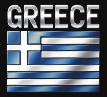 Greece - Greek Flag & Text - Metallic by graphix