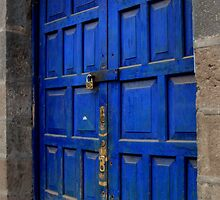 Blue Door - Cuzco, Peru by Wanda Craswell