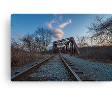 Railroad Bridge - Manchester  Canvas Print