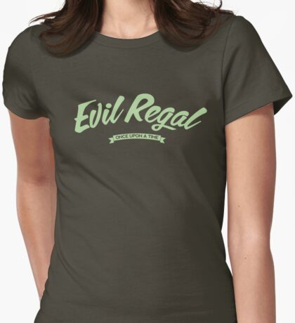 Once Upon a Time - Evil Regal - Green Womens Fitted T-Shirt