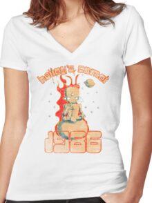 Halley's Comet 1986 - Vintage Women's Fitted V-Neck T-Shirt