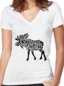 Hwaangh Women's Fitted V-Neck T-Shirt