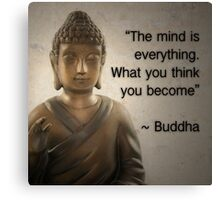 Enlightened Buddha Quote Canvas Print
