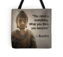 Enlightened Buddha Quote Tote Bag
