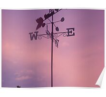 Weather Vein at Sunset Poster