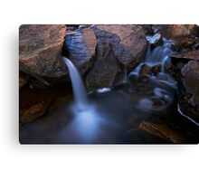 small water fall, bottom of lesuredie falls Canvas Print