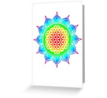 Flower of life - Lotus, healing & energizing Greeting Card