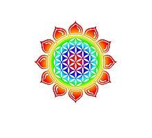 Flower of life - Lotus, healing & energizing Photographic Print