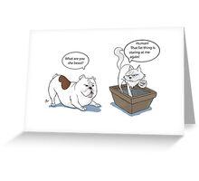 Dog Vs Cat Greeting Card