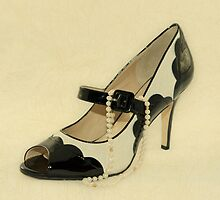 Fabulous Pearls B&W Shoe Vintage by CptnLucky