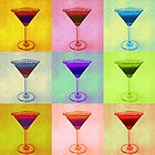 Martini Pop Art Card by Arts4U