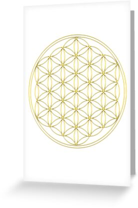 Flower of life - Gold, healing & energizing by nitty-gritty