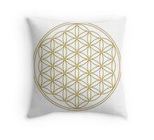 Flower of life - Gold, healing & energizing Throw Pillow