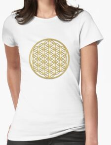 Flower of life, sacred geometry, energizing & purification Womens Fitted T-Shirt
