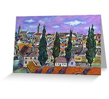 Landscape from Sibiu, Transylvania Greeting Card