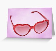 Fabulous Heart Sunglasses Sweet Greeting Card