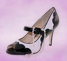 Fabulous Pearls B&W Shoe Sweet by CptnLucky