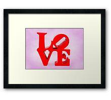 Fabulous Love on Sweet Background Framed Print