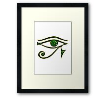 EYE of Horus/ Ra, reverse moon eye of Thoth/ Framed Print