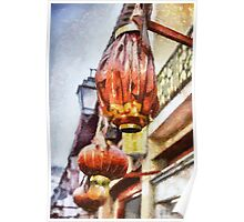 Lanterns in Macau Poster