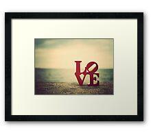 Retro Love Framed Print