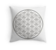 Flower of life - Silver, healing & energizing Throw Pillow