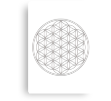 Flower of life, sacred geometry, energizing & purification Canvas Print