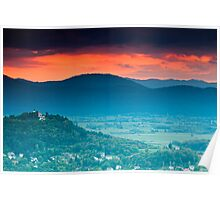 Wetlands Sunset Poster