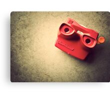 Retro Red Toy Viewmaster Canvas Print
