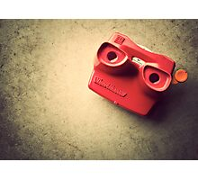 Retro Red Toy Viewmaster Photographic Print