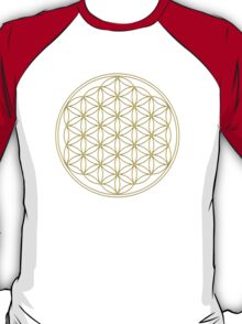 Flower of life - Gold, healing & energizing T-Shirt