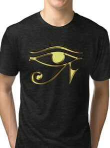 EYE of Horus, Protection & Wisdom Tri-blend T-Shirt