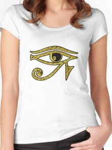 EYE OF HORUS - Protection Amulet Women's Fitted Scoop T-Shirt