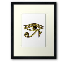 EYE OF HORUS - Protection Amulet Framed Print