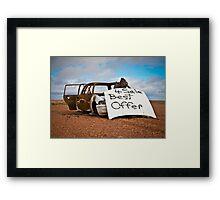 Best Offer Burned Out Car Framed Print